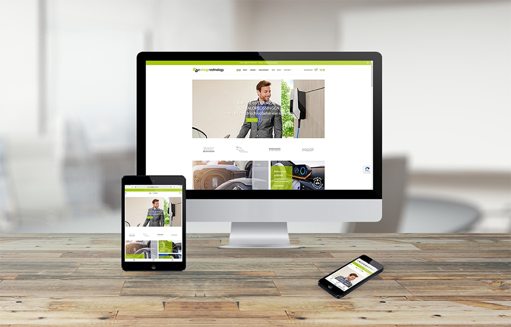 e-charge technology website opgeleverd