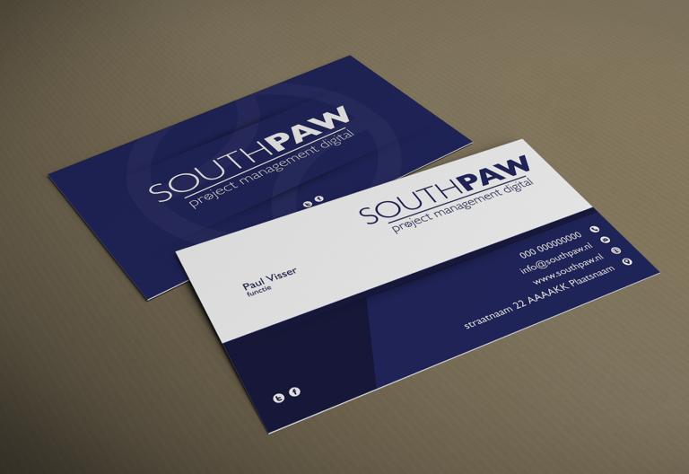 Southpaw visitekaartje